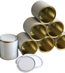 White and Lacquer Lever Lid Tins