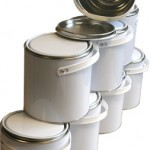2.5 Litre White/Plain Lever Lid Tin