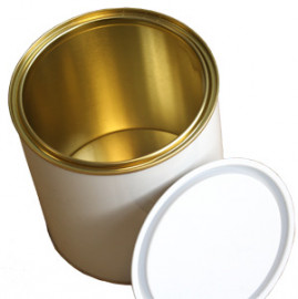 1 Litre (box of 157) White/Lacquer Lever Lid Tin