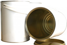 2.5 Litre (box of 60) White/Lacquer Lever Lid Tin