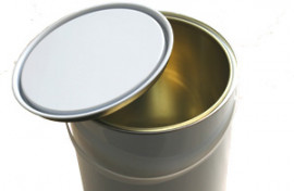 2.5 Litre (box of 8) White/Lacquer Lever Lid Tin