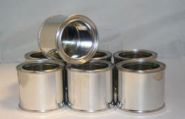 100 ml (BOX OF 252) PLAIN/PLAIN LEVER LID TIN