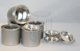 50 ml (BOX OF 60) PLAIN/PLAIN LEVER LID TIN