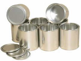 1 Litre (box of 157) Plain/Plain Lever Lid Tin