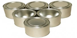 125 ml (box of 228) Plain/Plain Lever Lid Tin