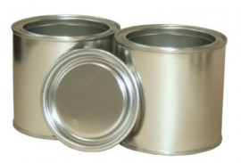 250 ml (box of 40) Plain/Plain Lever Lid Tin