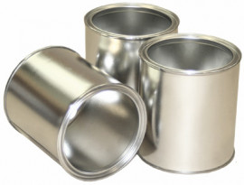 0.5 Litre (box of 125) Plain/Plain Lever Lid Tin