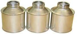 250 ml Round Cone Top Tin with Cap and Seal- Plain/Plain