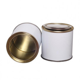 250 ml (box of 252) White/ Laquered Lever Lid Tins