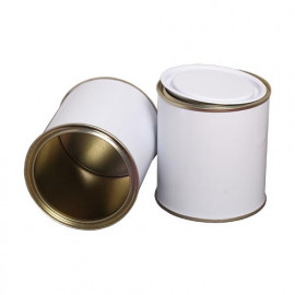500 ml (box of 125) White/ Laquered Lever Lid Tins