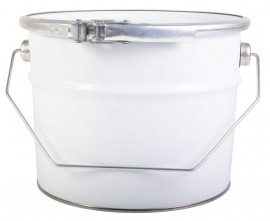 2.5 Litre Steel Pail White/Plain
