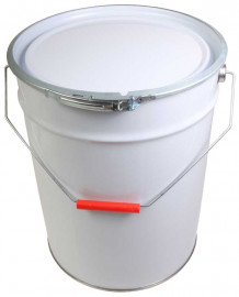 20 Litre Steel Pail White/Plain