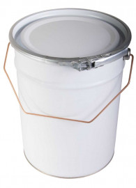 5 Litre Steel Pail White/Plain
