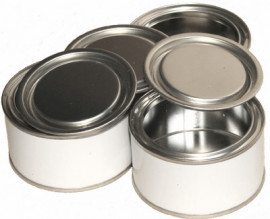 125 ml (box of 228) White/Plain Lever Lid Tin