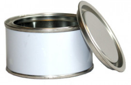 125 ml (box of 40) White/Plain Lever Lid Tin