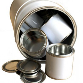 250 ml (box of 40) White/Plain Lever Lid Tin