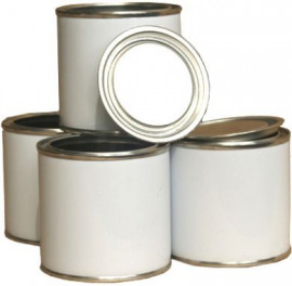 500 ml (box of 30) White/Plain Lever Lid Tin