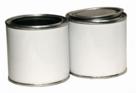 500 ml (box of 125) White/Plain Lever Lid Tin