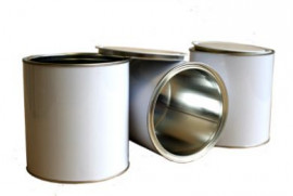 1 Litre (box of 27) White/Plain Lever Lid Tin