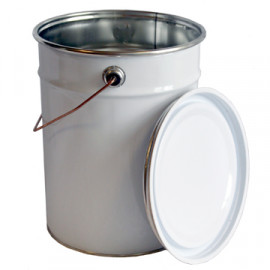 10 Litre Steel Pail White/Plain