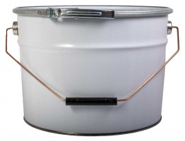 10 Litre Steel Pail White/Plain Heavy Duty